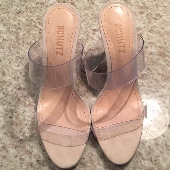 a8d117da00 Ariella Clear Strap slide high heeled sandal. M_5c799152aaa5b8ef001c9cae